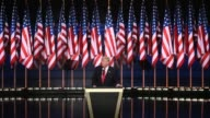 Footage of Donald Trump speaking as he accepts the presidential candidacy nomination for the Republican party at the Republican National Convention...