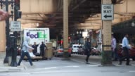 Footage of FedEx truck being loaded up by workers in Chicago IL on September 15 2017 Photographer Christopher Dilts Shots wide shot of workers...