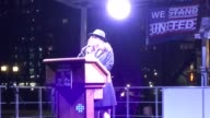 Footage of Hollywood celebrities and politicians speaking at an preInauguration AntiTrump Alec Baldwin Bill de Blasio Al Sharpton mayor Marisa Tomei...