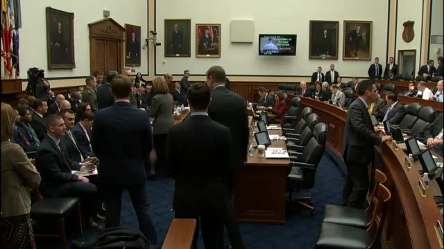Footage of members of the House Armed Services Committee Defense Secretary Ashton Carter and Joint Chiefs of Staff Chairman Joe Dunford moments...