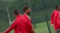 Footage of Olivier Giroud training at London Colney