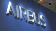 Footage of the Airbus Booth and products during the Aero India air show at Air Force Station Yelahanka in Bengaluru India on Thursday Feb 16 2017...