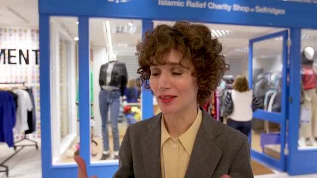 Footage of the art installation in the form of a charity shop that has been unveiled at upmarket department store Selfridges and interview with the...