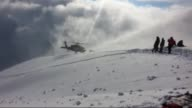 Footage of the Disaster and Emergency Management Presidency of Turkey shows the wreckage of a helicopter that crashed in eastern Turkey Tuesday...
