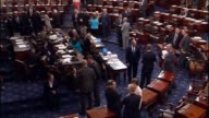 Footage of the Senate chamber from two angles during an amendment vote on the Every Child Achieves Act