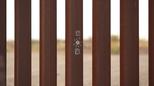 Footage of the US Mexico Southern border fence is pictured in Fort Hancock TX on November 9 2017 Photographer Luke Sharrett Shots wide shot of border...