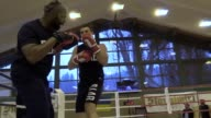 Footage of Wladimir Klitschko's training session at his training camp in Stanglwirt ahead of his fight against Anthony Joshua on April 29