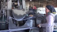 Footage showing daily work from ironmongery run by a woman where 2 out 7 workers are women in the early hours of the day in Germencik town of Aydin...