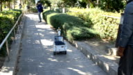 Footage taken near JR Kaihinmakuhari Station in Chiba's Mihama Ward shows Cranberry a personal mobility robot under development at Chiba University...