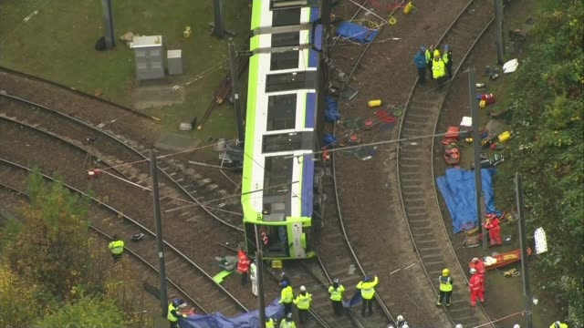 Footage which appears to show tram driver falling asleep probed 9112016 Overturned tram on tracks