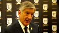 Football Association celebrates 150th Anniversary Interviews and press conference ENGLAND London INT David Bernstein interview SOT / Alan Shearer...