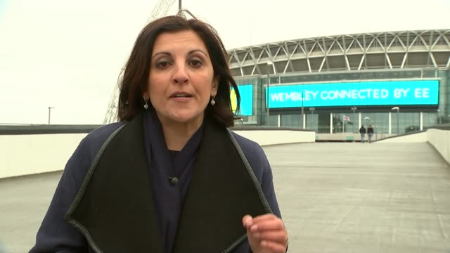 Football Association launches internal review into historical sex abuse allegations against youth coaches Reporter to camera General views Wembley...