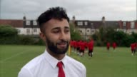 Football club set up after London riots competes in the FA Cup ENGLAND London Croydon EXT Prince Choudary coaching AC London players during training...