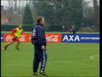 England squad hit by injuries ITN ENGLAND Berks Bisham Abbey EXT Howard Wilkinson Caretaker England Coach supervising England FC training session...