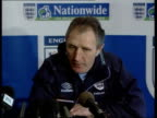 England squad hit by injuries ITN ENGLAND Berkshire Bisham Abbey EXT Various shots of Howard Wilkinson standing speaking to members of England FC...