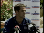 Euro 2000 England in Malta ITN England players training Michael Owen press conference SOT Talks of squad having world class strikers David Beckham...