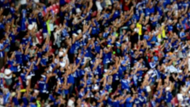 football fans cheering.