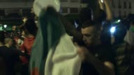 Football fans in Algiers were celebrating their national teams historic qualification for the second round of the World Cup in Brazil