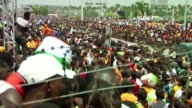 Football fans in Ivory Coast celebrate the return of The Elephants after Herve Renards side won the Africa Cup of Nations for the first time since...