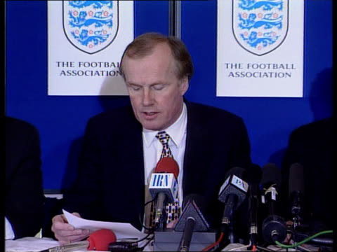 Football floodlight failures/gambling link arrests ITN London Lancaster Gate David Davies press conference SOT Talks of the arrests at Charlton...