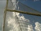 Football hits back of net