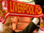 Rafael Benitez is new Liverpool Manager ITN ENGLAND Liverpool Anfield Rafael Benitez posing with Liverpool scarf