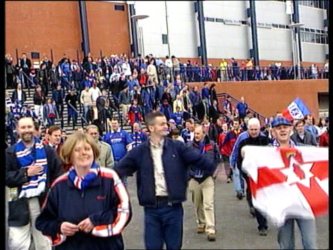 Rangers ViceChairman resigns EXT Rangers supporters away from Hampden Park after Scottish Cup Final win over Celtic LIB