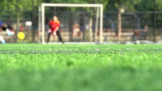 football shooting and saving
