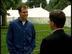 World Cup ITN John Lloyd intvwd Talks of prospects if Korda is injured Greg Rusedski intvwd Think Henman will win the match Henman practising against...