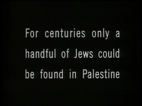 INTERTITLE 'For centurieshandful of Jewsin Palestine'