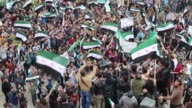 For the first time in years hundreds of Syrians nationwide took advantage of a nearly week long ceasefire on Friday to resume anti government...