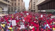 For the second time in as many weeks South Africans took to the streets in Johannesburg on Wednesday demanding the government stamp out corruption