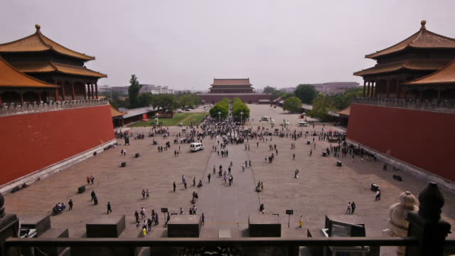 W/S, Forbidden City, Meridian Gate, south entrance, crowd, Beijing, China