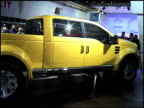 WS Ford Mighty F350 Tonka concept truck revollving on turntable 2002 Ford Mighty F350 Tonka concept truck at Cobo Hall on January 15 2002 in Detroit...