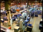 Bridgend Assembly area inside Ford engine plant PAN TMS Workers working to assemble engines MS Another ditto
