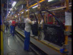 Ford/Vauxhall jobs announced LIB Mid Glamorgan Bridgend Ford workers on production line in Bridgend plant