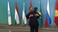 Foreign Ministers Kairat Abdrakhmanov of Kazakhstan Erlan Abdyldaev of Kyrgyzstan Sergey Lavrov of Russia Sirojiddin Aslov of Tajikistan Abdulaziz...