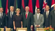 Foreign Ministers participate in the Shaping the Peace The Global Coalition to Defeat Daesh Meeting on Iraq at the Palace Hotel in New York City USA...