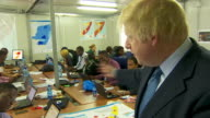 Foreign Secretary Boris Johnson talking about how financial aid from the UK will help people in Somalia