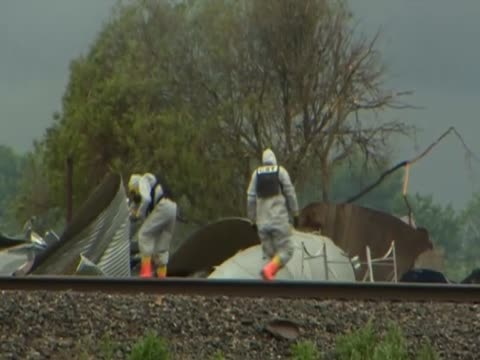 Forensics teams investigate the site of an explosion at a fertilizer plant in West Texas