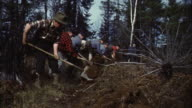 MS Forest fire fighters digging ditches for fire break