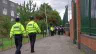 Police launch murder investigation over death of 14 year old boy Partly from T05091703 ENGLAND London Forest Gate EXT Police along to cordoned off...