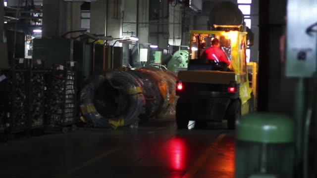 Forklift in Factory