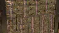 MS TS ZO Forklift moving stacks of money into vault / Kansas City, Kansas, United States