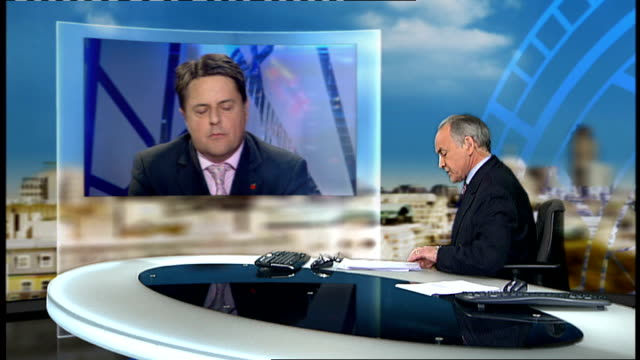 Former army leaders accuse BNP of hijacking the good name of Britain's military ENGLAND London GIR INT Nick Griffin LIVE 2WAY interview from...