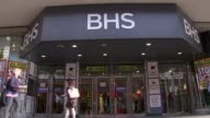Former BHS owner Dominic Chappell to be prosecuted by pensions regulator R25071609 / 2572016 Oxford Street People along outside BHS store with 'Store...