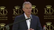Former British Prime Minister and former Middle East quartet chief Tony Blair held a press conference for the Foreign Press Association in Jerusalem