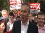 Former British Prime Minister and leader of the Labour party Tony Blair on campaign trail ahead of general election on 6 May UK 3 May 2010