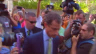 WPIX Former Congressman Anthony Weiner Arriving at US Federal Court
