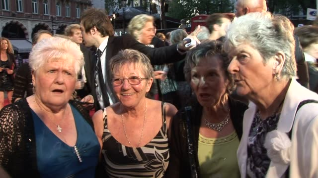 Former Dagenham Ford Workers on the film working at the factory the stand they took for equal pay at the Made in Dagenham World Premiere at London...